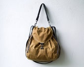 waxed canvas backpack - 1904 PACK  large - convertible backpack - cross body bag - laptop bag