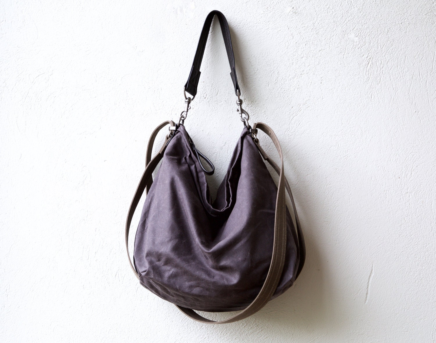 sale 100 off waxed canvas bag HOBO PACK wax canvas
