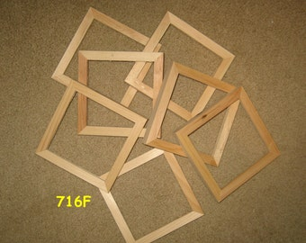 7 unfinished wood 6x6 picture frames (my 716F)