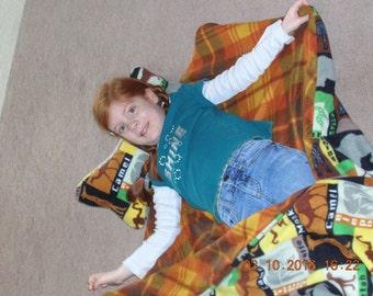 Safari animals sleeping bag, child sleep sack, toddler nap mat