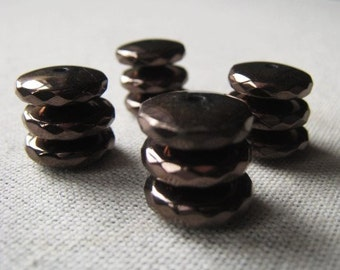 Gemstone Rondelle  Dark Mink Hematite Spacer Rondelle Item No. 4830