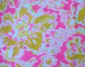 """lilly pulitzer's 2016 ooh la la poplin cotton fabric square 18""""x18"""""""