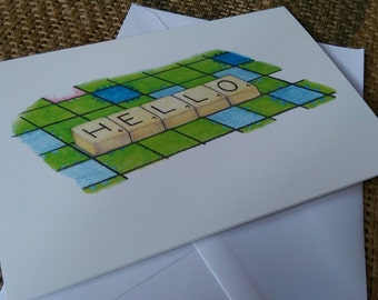 Hello (1 x greetings card)
