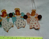 Set 6 paper angels Denmark Danish Rolf Wallach vintage christmas decorations