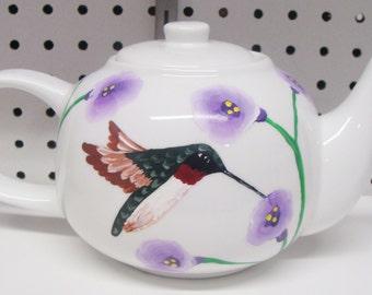 Hummingbird Teapot, Birds, Bird lovers,Christmas Gift,floral,flowers,entertaining,tea, serving,housewarming gift,wedding gift