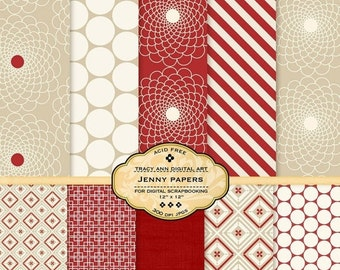 Jenny Digital Scrapbook Papers