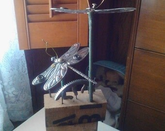 Recycled Dragonfly Sculpture
