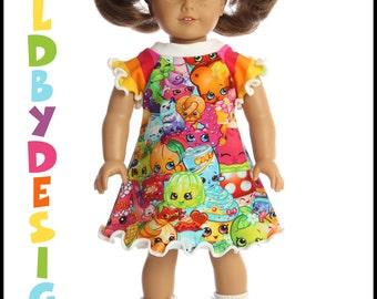 18 inch American Girl Bitty Baby Doll  rainbow SHOPKINS dress **ON SALE**