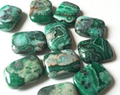 Green Crazy Lace Agate Puff Rectangle Stones