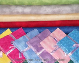 Marble Flannel Squares, Tie Dye Flannel Squares, FLANNEL Fabric, Rag Quilt Squares, pick colors quantity and size, We Cut You Sew
