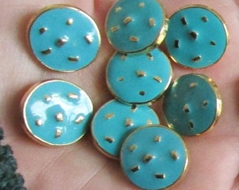 aquamarine or navy colour  color buttons set of 4