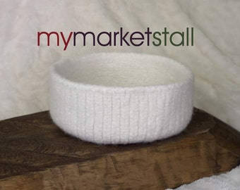 Winter White Felted Bowl - Ready to Ship