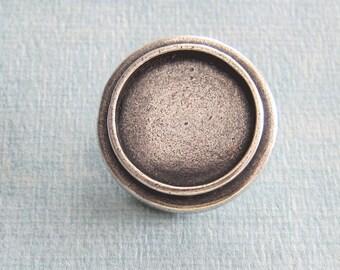 NEW Silver 23mm Round Button  3764