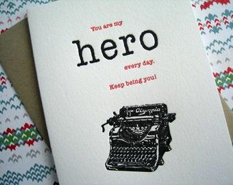 Letterpress Card - Hero