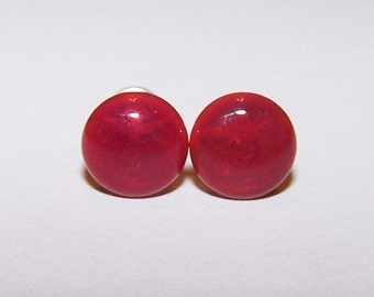 4 gauge red glass plugs single flared pair with o rings (672)