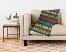 Bat Man Blanket,  Nursery Blanket, colorful blanket, kids blanket, Big blanket, baby Blanket, children blanket, boyfriend gift