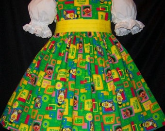 SESAME Street BERT and ERNIE Jumper Dress Custom Size