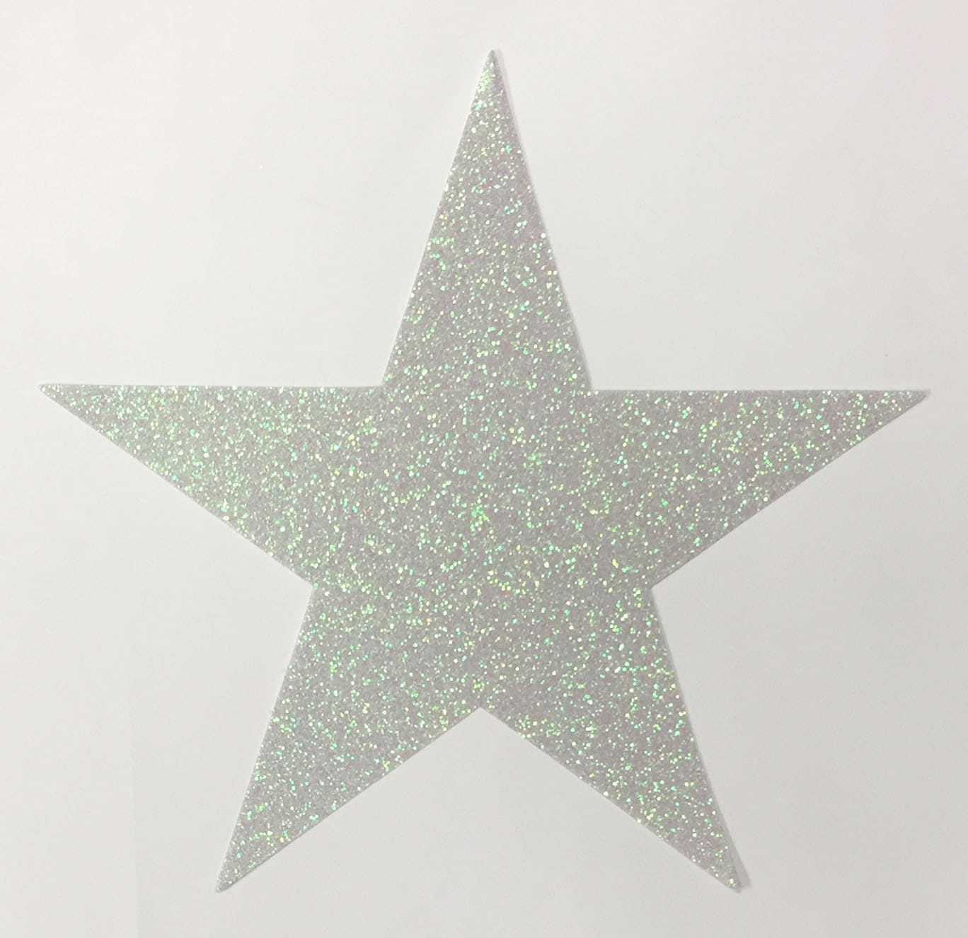 How to scrapbook with glitter - Giant Reflective Opal White Glitter Star Stickers 7 3 4 Inch Size 10 Stars Scrapbook Party Decor 00413 Free Usa Shipping