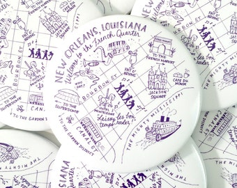 New Orleans, Louisiana Map Magnet