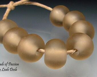 Handmade Artisan Glass Beads of Passion Set Lampwork - 8 Satin Browns