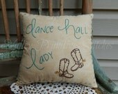 RESERVED for TXCOWGIRL51, Custom Design, Cowgirl Pillow, Line Dancing, Cowgirl Boots