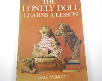 The Lonely Doll Learns a Lesson Vintage Children's Book with Edith and Bears by Dare Wright