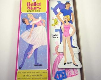 Vintage Ballet Stars Paper Dolls Set for Children by Whitman Featuring Ballerinas