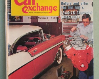 Car Exchange Magazine April 1981 Antique Cars Chevy Nomad Antique Show Cars of Fifties 1946 -76 Chevrolet Price Guide Bel Air 1959 Impala