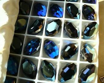 1 Swarovski Art. 4871 Bermuda Blue Corona 18x12mm C15