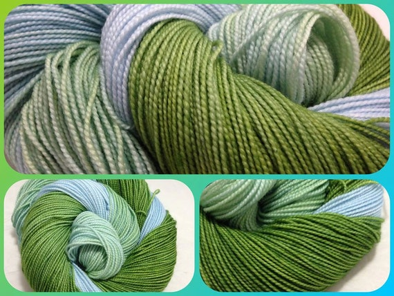 Through the Trees - Dyed to Order - Hand Dyed - Merino Wool Yarn - Fingering Weight