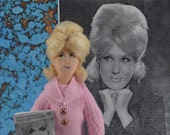 Dusty Springfield Doll 1960s Rock and Roll Singer Miniature Art