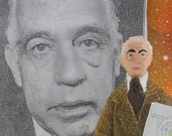 Niels Bohr Scientist Art Doll Miniature Handmade Art Character Nobel Prize Winner