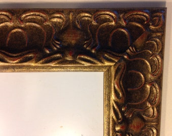"""Wide Antique Gold Picture Frame - 6 x 3.5"""""""