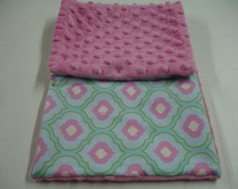 Friend or Foe Minky Baby Stroller Blanket 20 x 29 READY TO SHIP On Sale