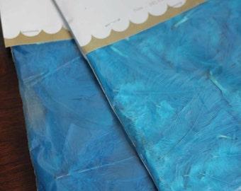 FEATHERS - AQUA - extra fluff - hackle feathers - 1 bag - Aleene's - Craftmaker