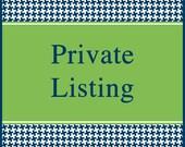 Private listing for  Debra Speir (debraspeir)