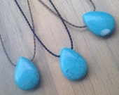 turquoise magnesite padre polynesian roping necklace / waterproof / kid-proof / surf-proof / everyday / minimalist beauty / tula blue