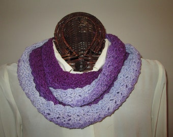 Gradient Purples Hand-Dyed Infinity Scarf