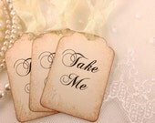 Take Me Tags Alice In Wonderland Party Favor Tags Set of 10