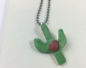 Ceramic Cactus Necklace