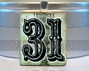 60% OFF CLEARANCE Halloween Scrabble tile pendant - Magical Halloween 31 (HAL123)
