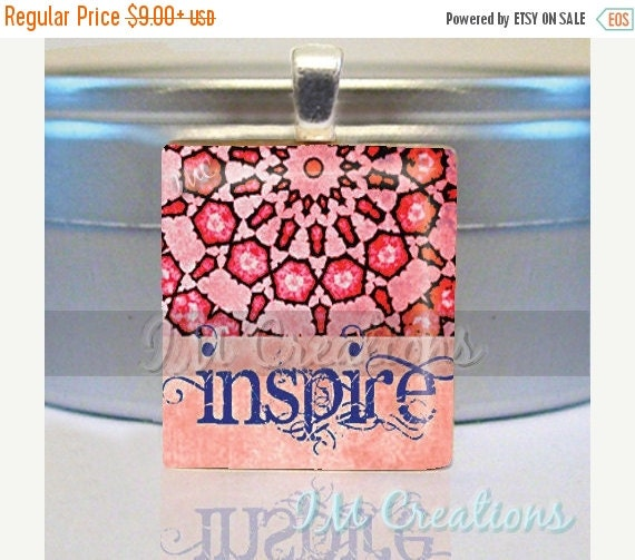 60% OFF CLEARANCE Scrabble tile pendant charm by IMCreations Inspire (WRD310)
