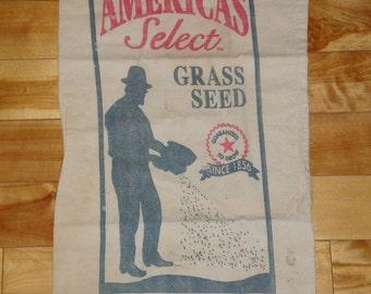 Vintage Feedsack | Old Feedsack | Primitive Feedsack | Ferry & Morse Feedsack