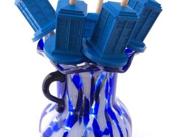 Drop Spindle - 3D Printed - TARDIS - Top Whorl
