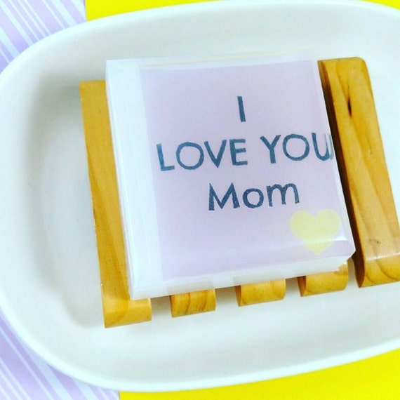 Personalized Mom. mom from daughter. I love you Mom SOAP. gift for her. mom from son. mother in law. gift hostess. message inside soap bar