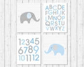 Cute Elephant Nursery Wal...