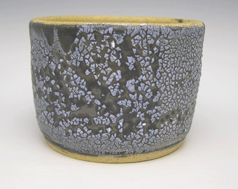 Contemporary succulent planter Ceramic modern stoneware cactus planter bonsai planter herb pot Black White 5 1/4 x 3 3/4  Free Shipping v6