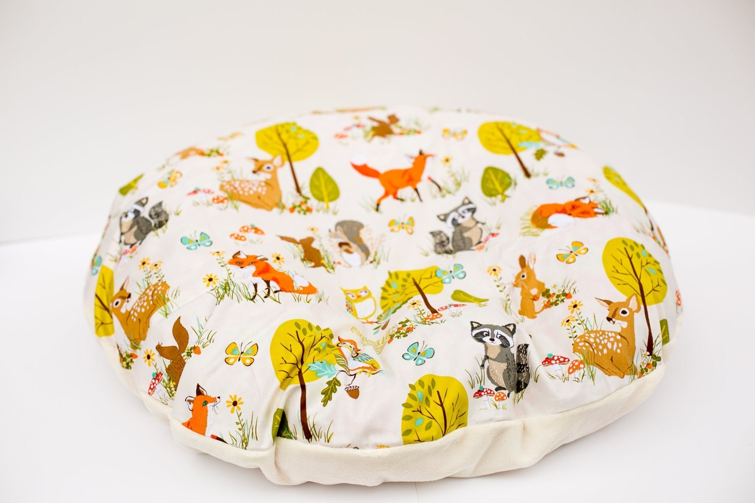 Forest Friends Newborn Lounger Boppy Cover Zipper Closure
