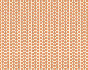 30% OFF Honeycomb Dot Orange - 1/2 Yard