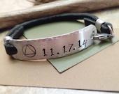 Sobriety Bracelet, AA Symbol Bracelet, Recovery Date Bracelet, Sobriety Anniversary Date Bracelet, Recovery Bracelet, Personalized Recovery